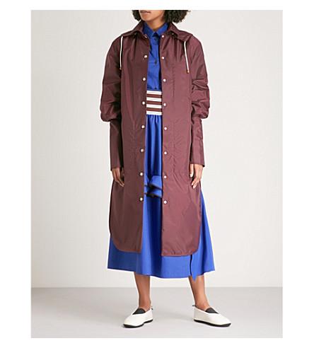 MARNI Textured shell coat (Ruby