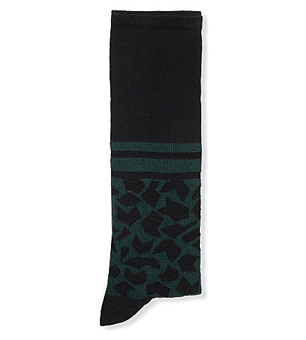 MARNI Geometric-print cotton socks (Spherical+green