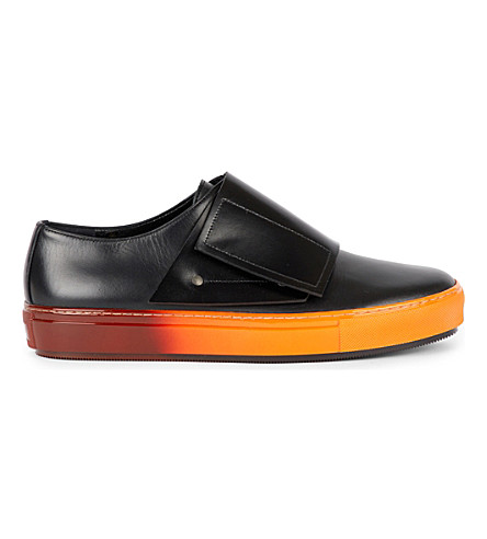 MARNI Leather and ombre rubber sneakers (Black+black