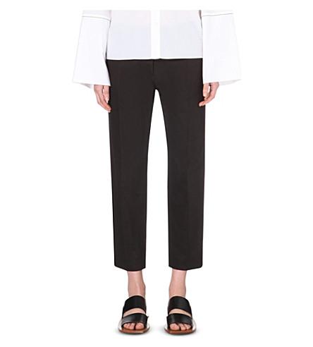 MARNI Straight-leg cropped trousers (Coal