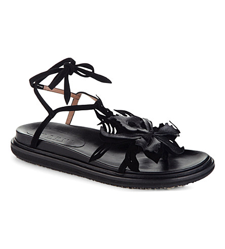 MARNI Leather strap sandals (Carbone