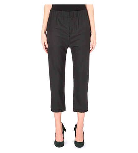 MARNI Cropped wool trousers (Carbone