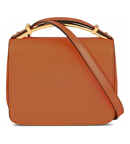 MARNI Sculpture patent leather bag (Brick