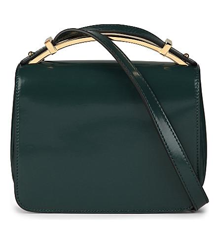 MARNI Sculpture patent leather bag (Dark sea green