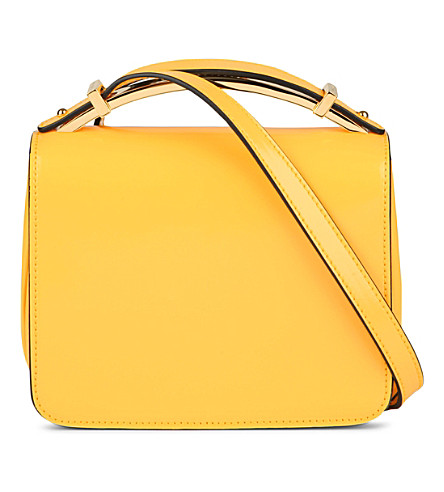 MARNI Sculpture patent leather bag (Maize
