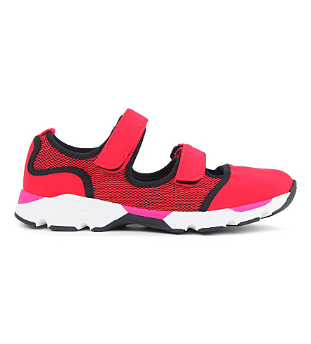 MARNI Low-top neoprene sneakers (Red