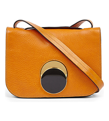 MARNI Pois leather shoulder bag (Honey