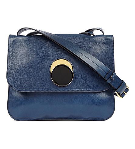 MARNI Pois leather shoulder bag (Iolite
