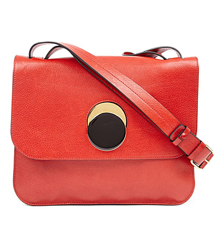 MARNI Pois leather shoulder bag (Tulip