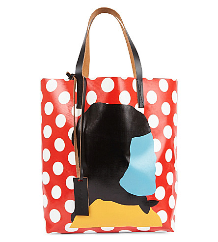 MARNI Print by Ekta PVC shopper bag (Red