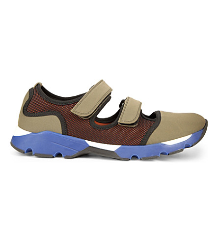 MARNI Chastelton neoprene trainers (Grass+curry
