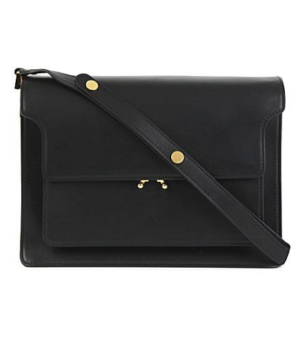 MARNI Trunk leather bag (Carbone