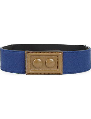 MARNI Leather and felt belt