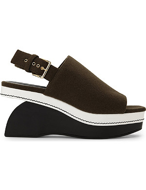 MARNI Wool wedge sandals