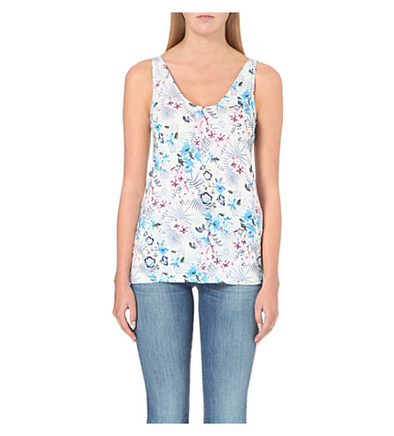 WAREHOUSE Lily floral-print vest (None