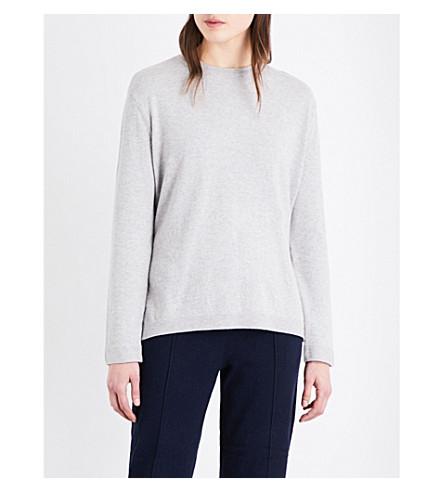 WAREHOUSE Side-tie cotton-blend jumper (Grey