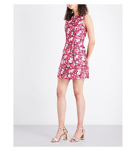 WAREHOUSE Aster floral jacquard dress (Pink