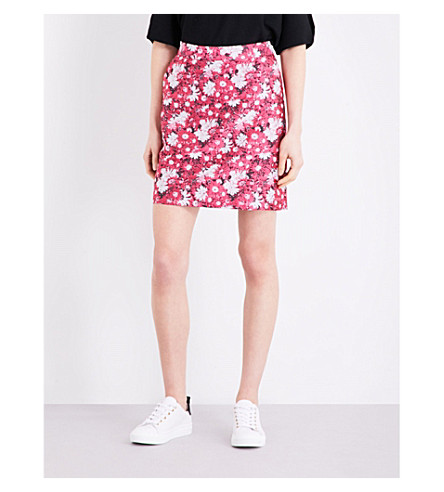 WAREHOUSE Aster jacquard floral skirt (Pink