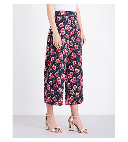 WAREHOUSE Climbing Rosa wide-leg crepe trousers (None