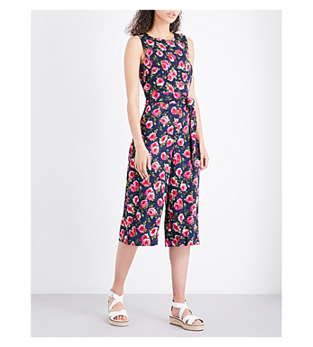 WAREHOUSE Climbing Rosa crepe jumpsuit (None