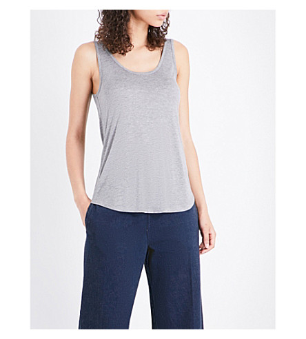 WAREHOUSE Swing jersey vest (Grey