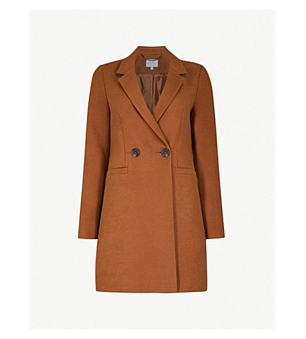 WAREHOUSE Double-breasted felt coat (Brown