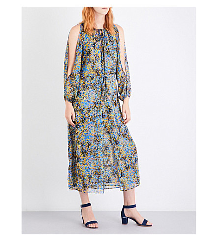 WAREHOUSE Flower burst woven maxi dress (None