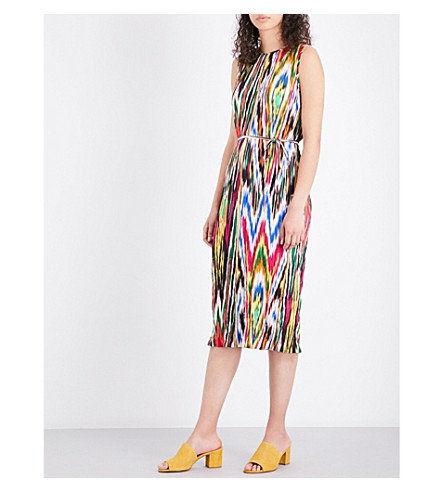 WAREHOUSE Ikat crinkled woven dress (None