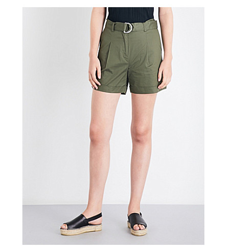 WAREHOUSE D-ring cotton shorts (Khaki