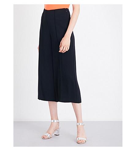 WAREHOUSE Pintuck woven culottes (Black