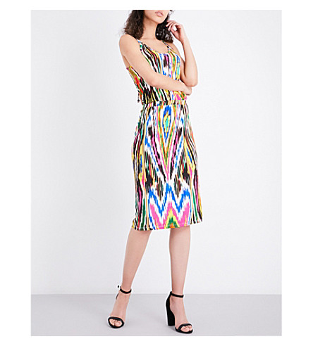 WAREHOUSE Abstract-print stretch-jersey dress (None