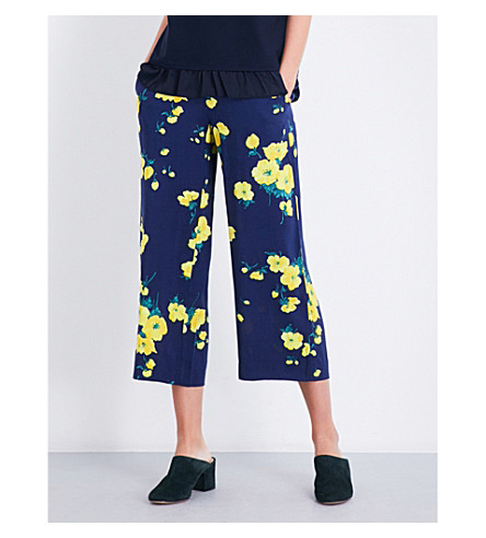 WAREHOUSE Delia high-rise culottes (Blue