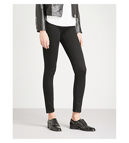 WAREHOUSE 修身版型的高层牛仔裤 (黑色