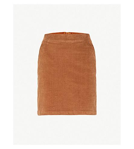 WAREHOUSE Pelmet corduroy skirt (Brown