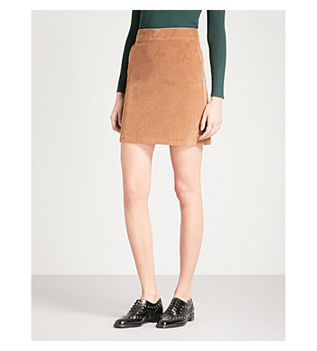 WAREHOUSE Pelmet corduroy skirt (Brown