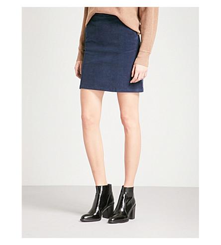 WAREHOUSE Pelmet corduroy skirt (Navy