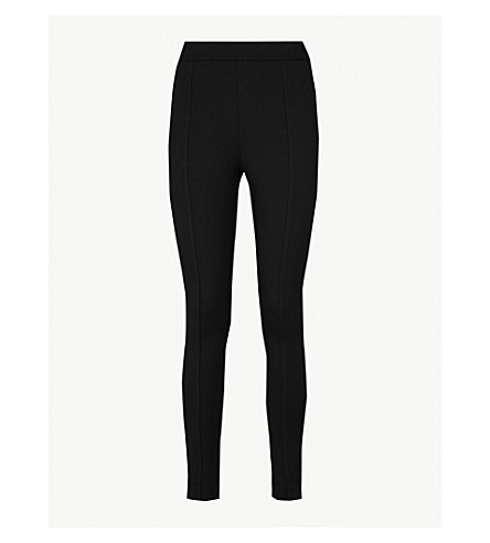 WAREHOUSE Cropped skinny woven trousers (Black