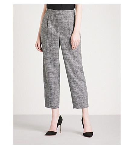 WAREHOUSE 锥形高层编织裤 (灰色
