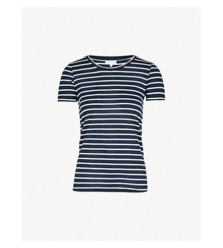 WAREHOUSE Striped jersey T-shirt (Blue