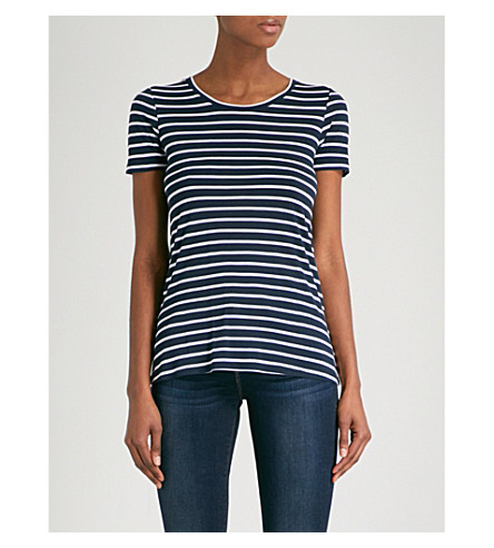WAREHOUSE Striped jersey T-shirt (Blue