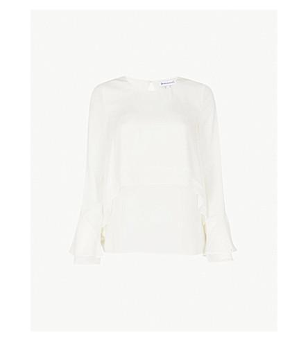 WAREHOUSE Double-layer crepe blouse (Cream
