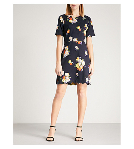 WAREHOUSE Floral-print woven dress (None