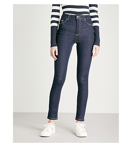 WAREHOUSE Skinny high-rise jeans (Blue