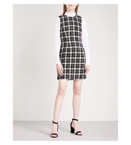 WAREHOUSE Checked sleeveless tweed mini dress (None
