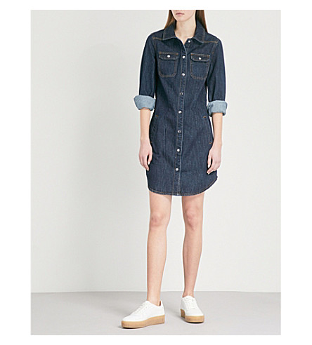 WAREHOUSE Western denim dress (Blue