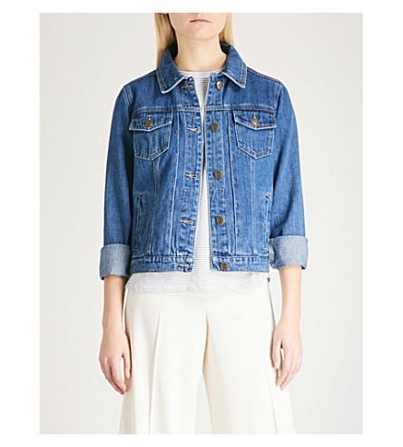 WAREHOUSE Cropped denim jacket (Blue
