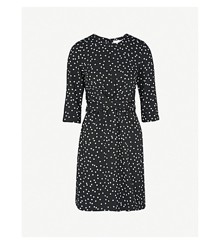 WAREHOUSE Polka-dot woven dress (None