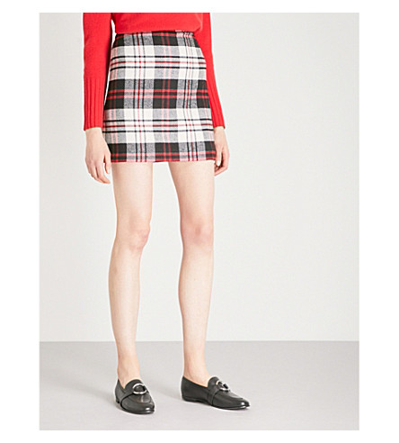 WAREHOUSE Checked woven skirt (None