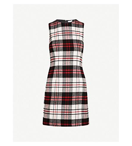 WAREHOUSE Tartan woven mini dress (None