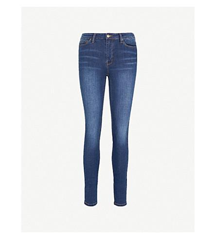 WAREHOUSE Powerhold slim-fit skinny mid-rise jeans (Blue